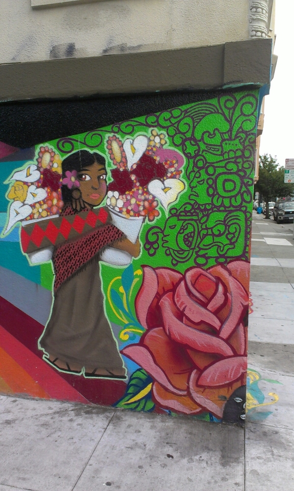 Mexican street art Mission district San Francisco
