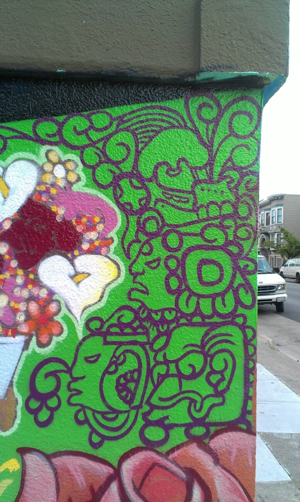 Aztec street art Mission district San Francisco