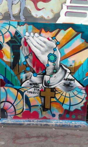 Praying with Rosary Clarion Alley