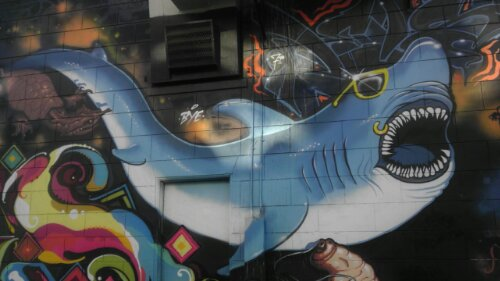 Shark mural Mission district SF