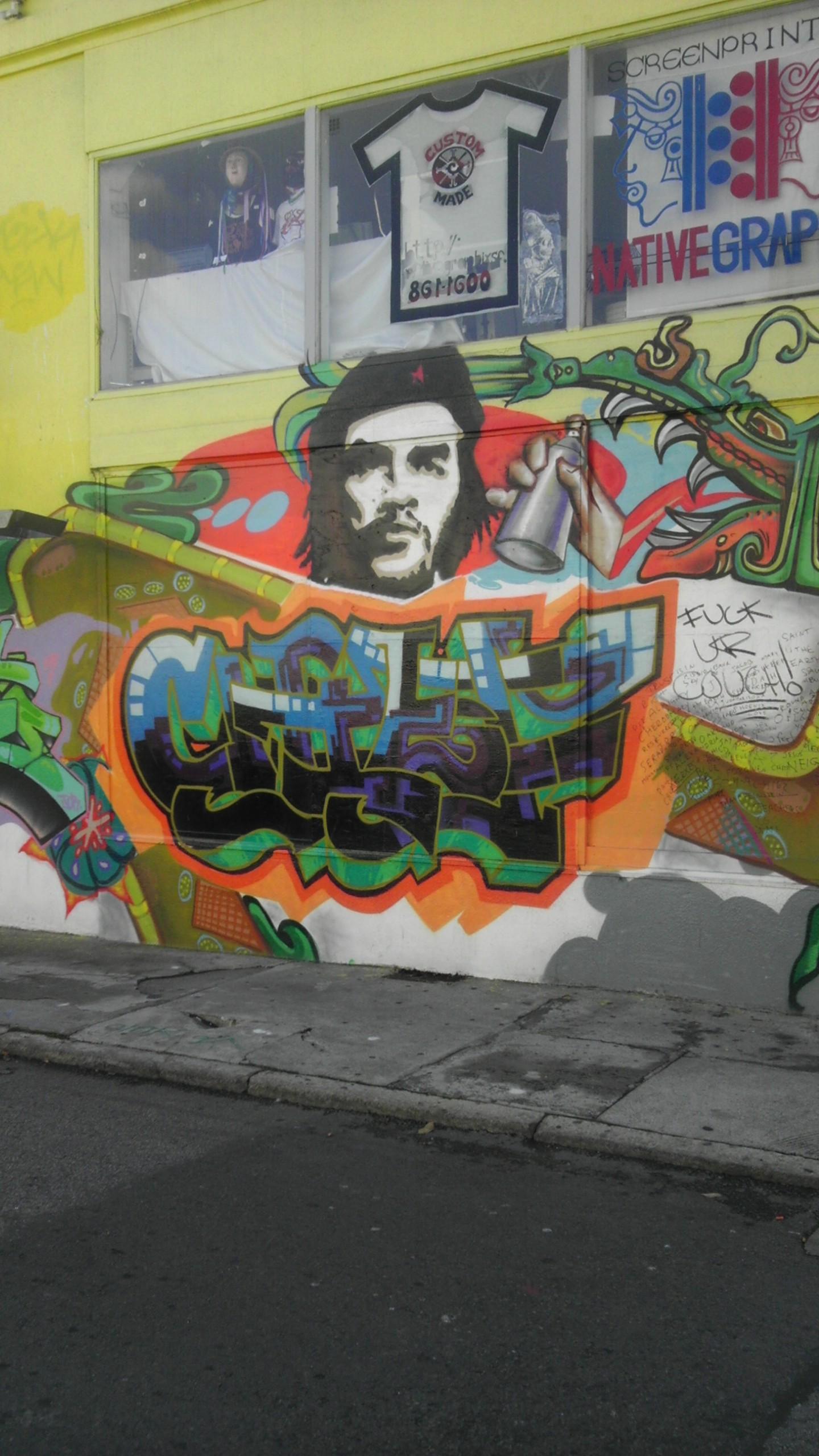 Che Guevera Spray Paint San Francisco