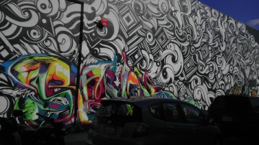 black and white wall mural san francisco