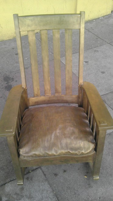 Gold Chairs Duboce Street San Francisco