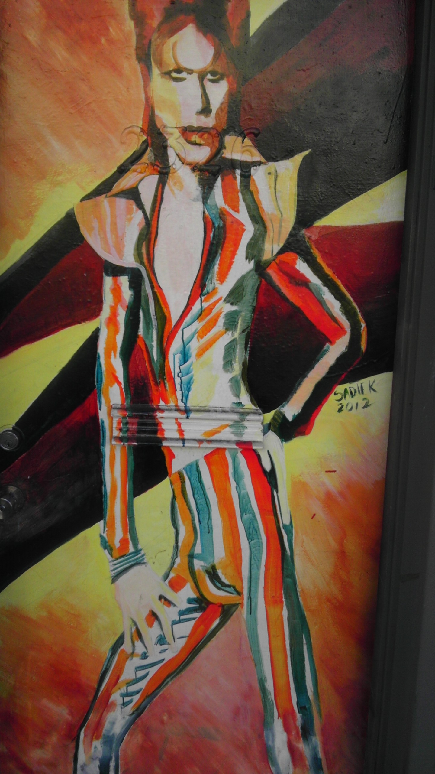 David Bowie painting in the mission district San Francisco