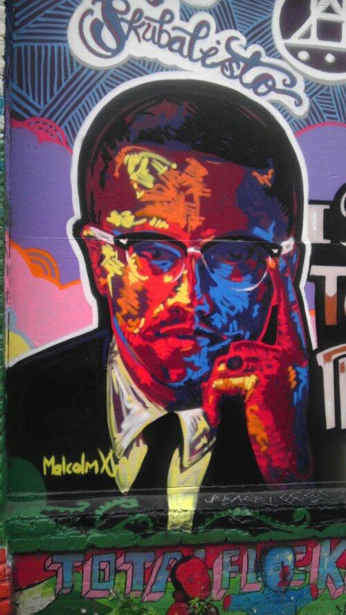 Malcolm X street art Clarion Alley San Francisco