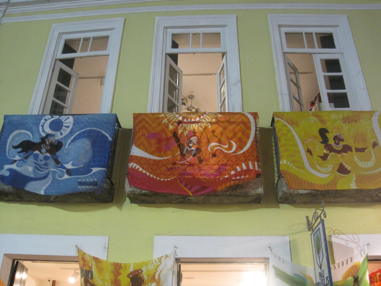 Orixa Banners in Salvador Brazil