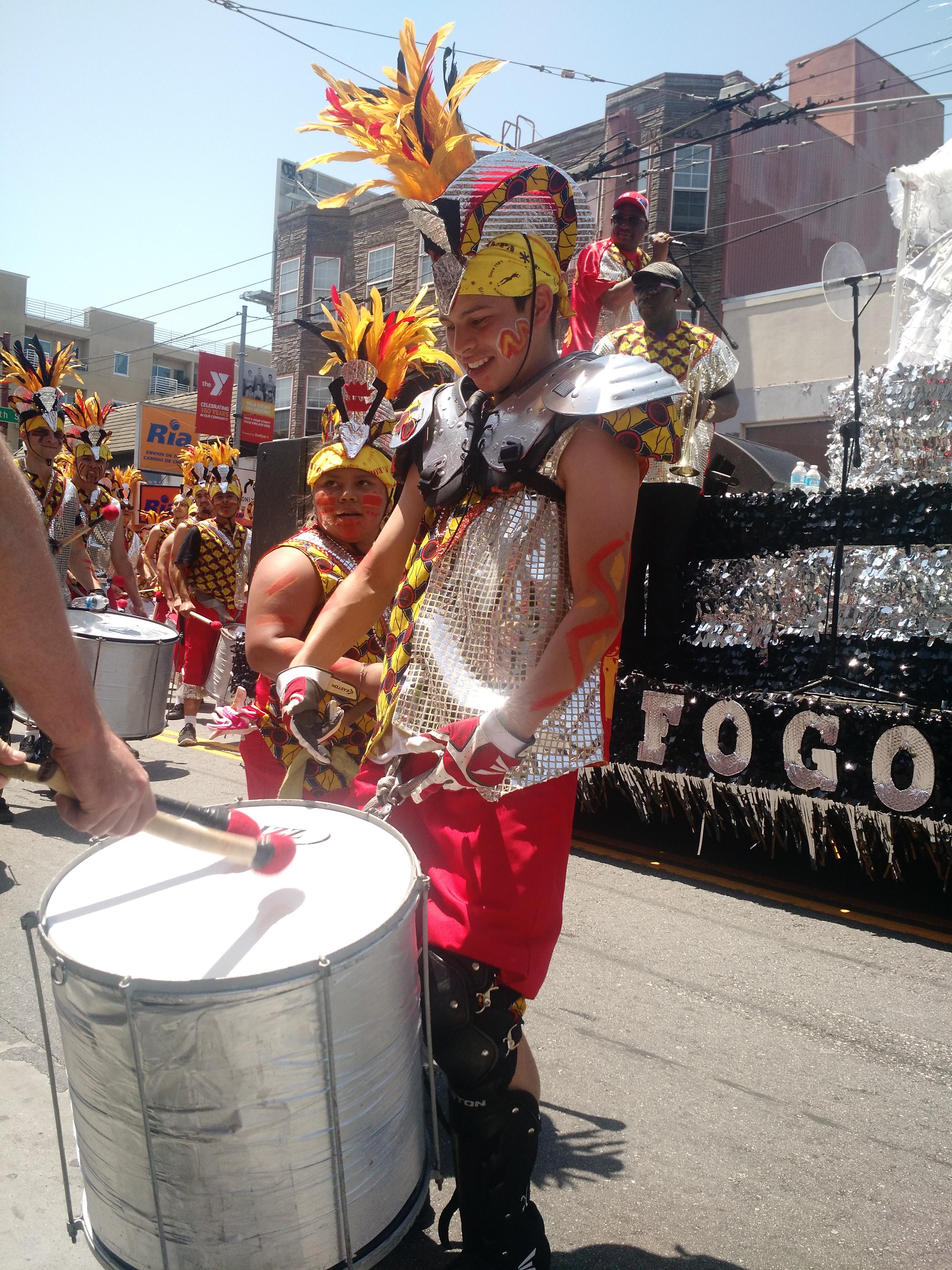 drummer Fogo Na Ropa San Francisco carnival parade
