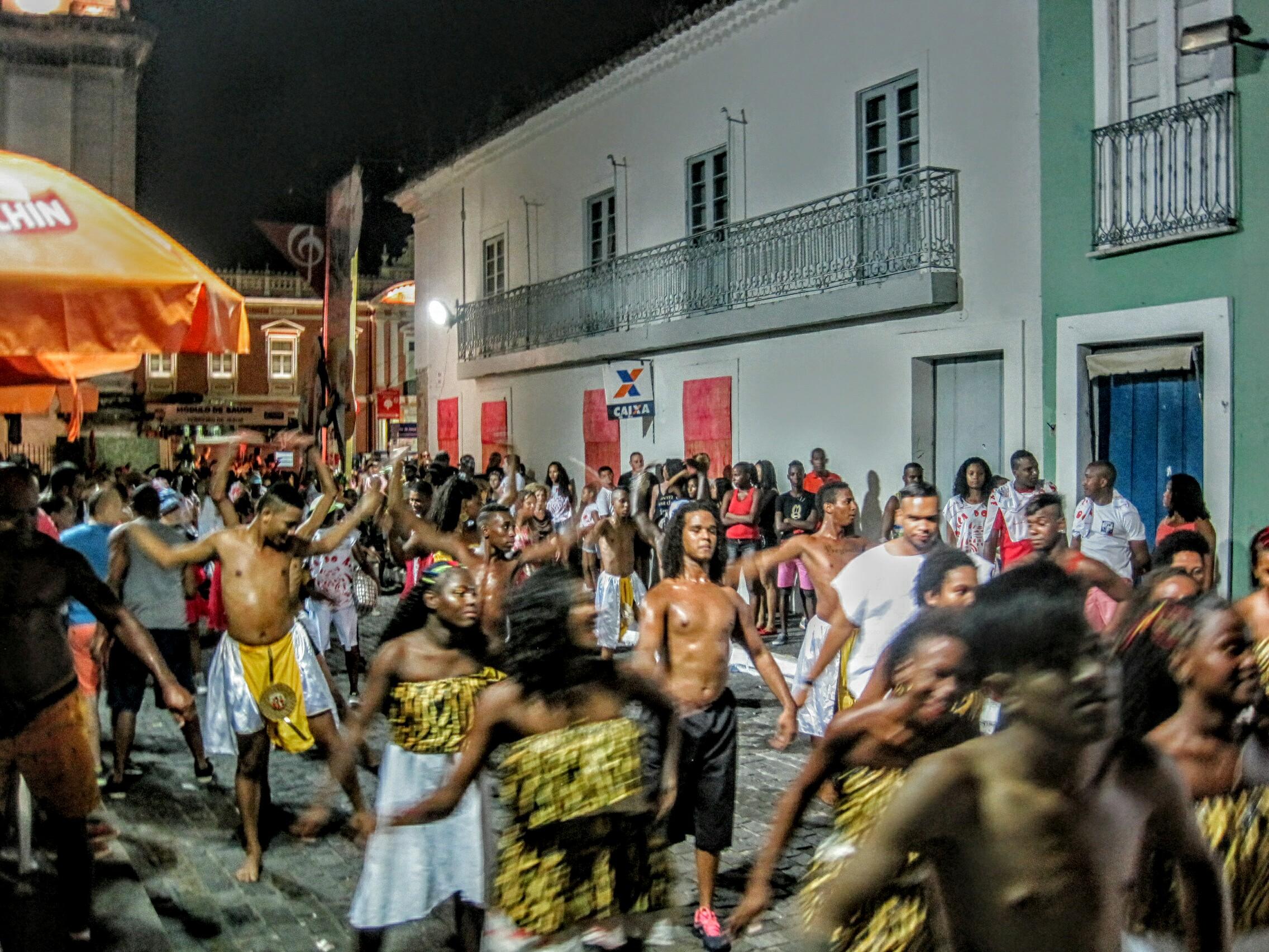 Dancers in the Pelerinho Carnaval Salvador Bahia