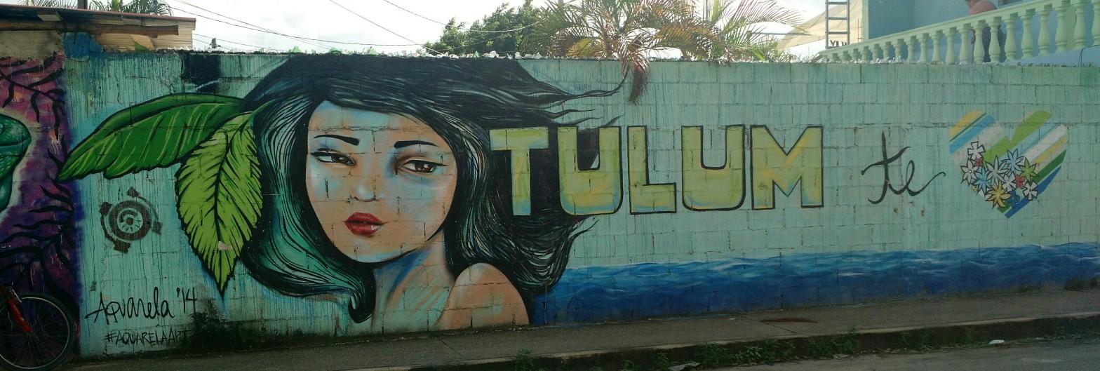 Street Art Mural in Tulum, Mexico