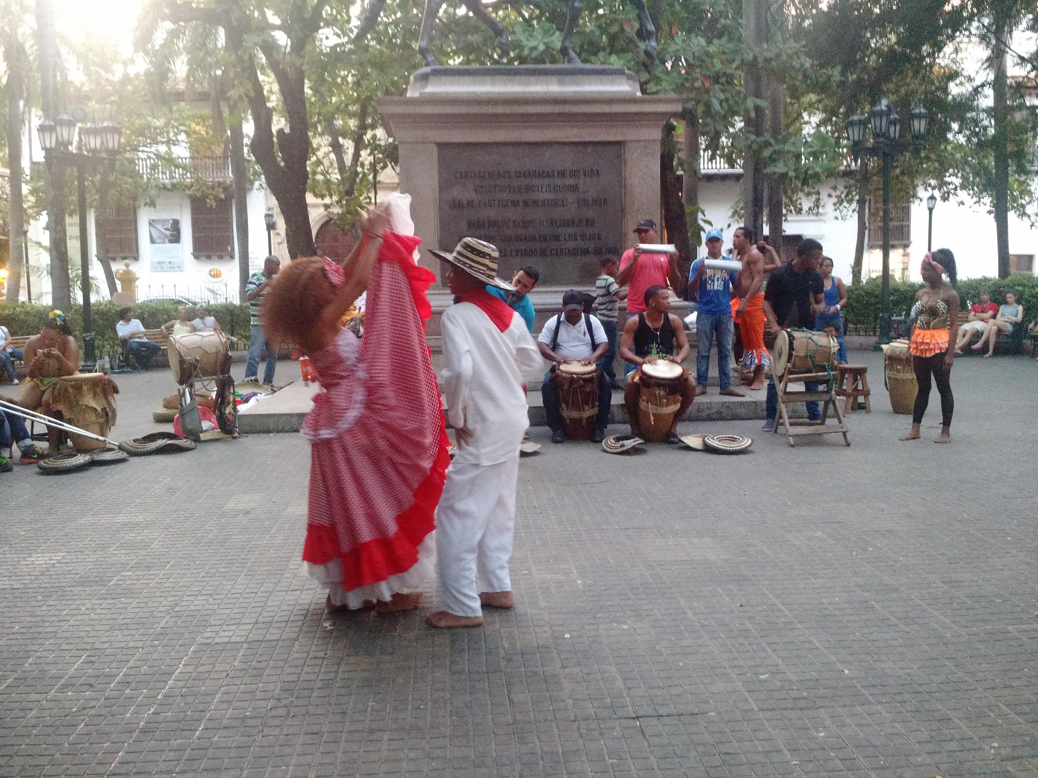 Cumbia dancers in Cartagena, Colombia