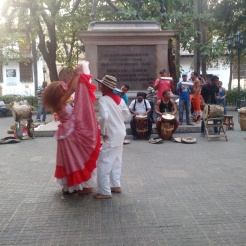 Cumbia dancers in Cartagena, Colombia