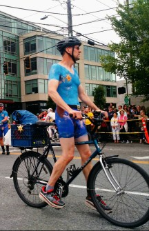 "Naked Bicycler ""Cop"" Fremont Solstice Parade"